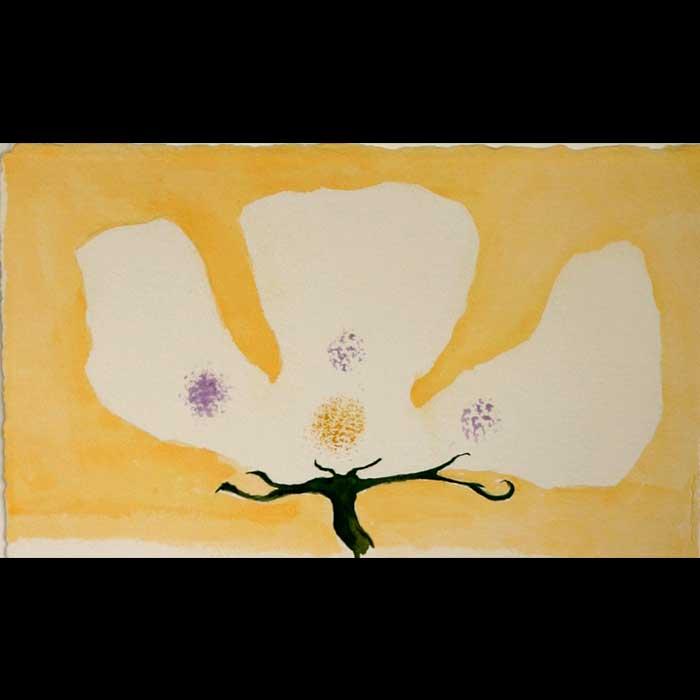 Selma's Garden #3 Daffodil, original art by Jeffrey Axelrod
